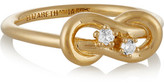 Elizabeth and James Catalan Gold-Plated Quartz Ring
