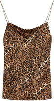 CAMI NYC The Axel Leopard-print Stretch-silk Top