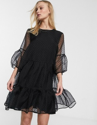 InWear Katerina dobby mesh ruffle dress