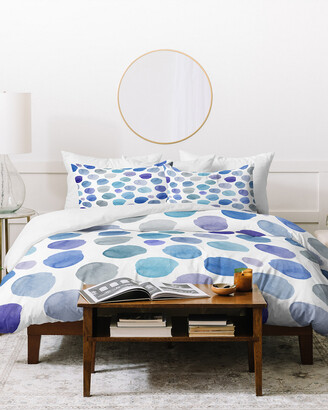 Deny Designs Hello Sayang Watercolor Dots Duvet Cover Set