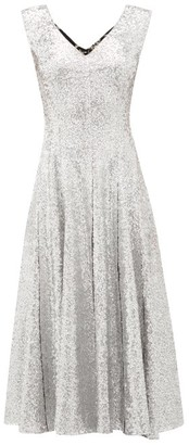 Norma Kamali Grace Sequinned Midi Dress - Silver Multi
