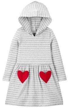 Carter's Toddler Girl Heart Hooded Jersey Dress