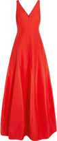 Halston Cotton and silk-blend gown