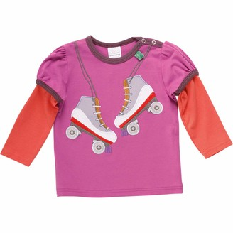 Green Cotton Fred's World by Baby Girls' Hello Rollerblades T Shirt