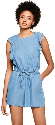 Find. Amazon Brand Women's Cotton Mix Chambray Playsuit