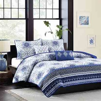 Home Essence Apartment Taylor Blue Coverlet Bedding Set