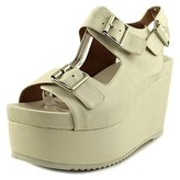 Jeffrey Campbell Terni Open Toe Leather Platform Heel.
