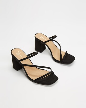 Spurr Women's Black Heeled Sandals - Benny Heels - Size 5 at The Iconic