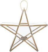 Nkuku Sanwi Standing Star Lantern - Brass - Small