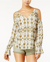 Jessica Simpson Printed Cold-Shoulder Top