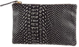 Clare Vivier Embossed Leather Clutch