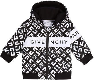 Givenchy Boy's 4G Zip-Front Hooded Logo Cardigan, Size 12-18 Months