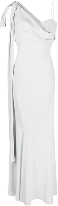 Alberta Ferretti One-Shoulder Evening Gown