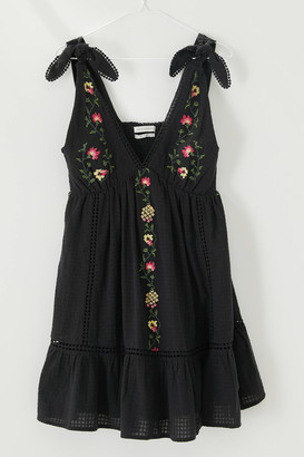 Urban Outfitters Forever Embroidered Mini Dress