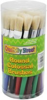 Chenille Kraft 5168 Wood Handle Colossal Round Brushes, Colors. 30 Brushes/Canister