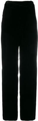 Monse Asymmetrical Velvet Pleated Trousers