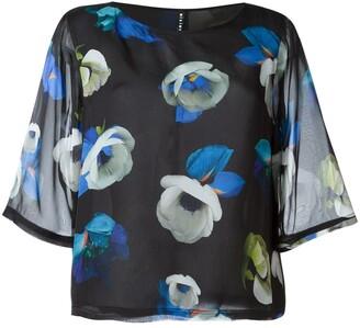 Mini Market Suffix floral silk blouse