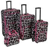 Rockland 4pc Pink Giraffe Luggage Set - F105-PNKGIRF