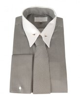 William Hunt Houndstooth Shirt With Tie