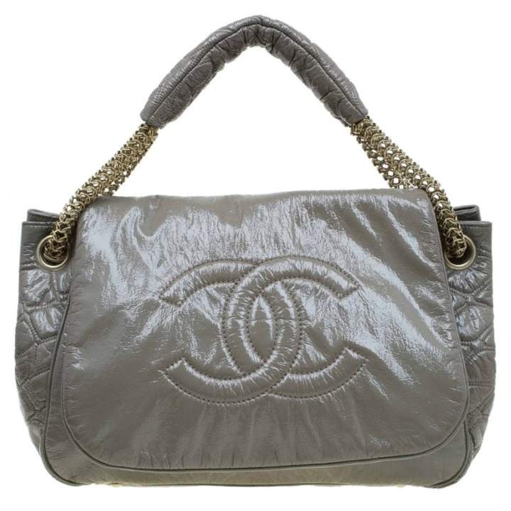 6b92ce9562b366 Chanel Green Patent Leather Handbags - ShopStyle
