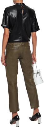Muu Baa Muubaa Cropped Leather Straight-leg Pants