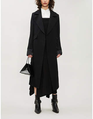 Ann Demeulemeester Tie-belt wool and cotton-blend coat
