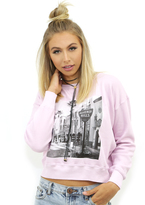 Wildfox Couture B.H. Postcard Sloan Sweater in Pouty Pink