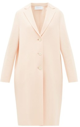 Harris Wharf London Single-breasted Felted-wool Coat - Womens - Light Pink