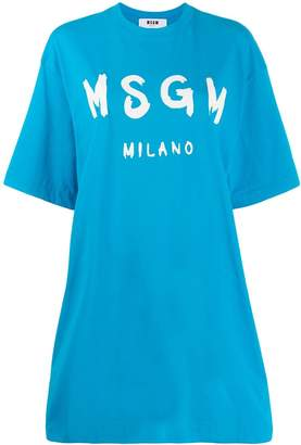 MSGM printed logo T-shirt dress
