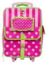 Pink Platinum Fab NY Upright Kids Suitcase - Pink/Green