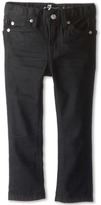 7 For All Mankind Kids Slimmy Jean in Black Out (Toddler)