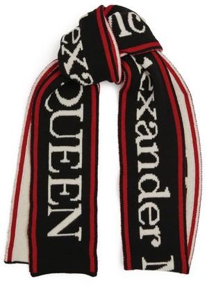 Alexander McQueen Wool Logo Scarf