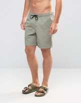 Asos Swim Shorts In Washed Green Mid Length