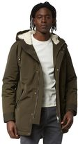 Frank & Oak Water Repellent Down-Filled Fishtail Parka in Military