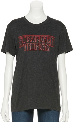 "Licensed Character Juniors' ""Stranger Things"" Logo Short Sleeve Tee"