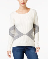 Calvin Klein Jeans Geometric-Pattern Ribbed Sweater