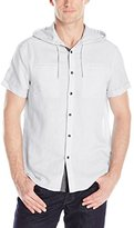 Kenneth Cole Reaction Men's Short Sleeve Hooded Linen