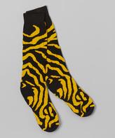 Gold & Black Zebra Knee-High Socks