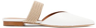Malone Souliers Maisie Point-toe Crocodile-effect Leather Mules - Womens - Cream