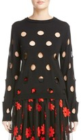 Simone Rocha Women's Cutout Polka Dot Sweater