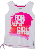 Reebok Run Like a Girl Side Tie Tank (Big Girls)