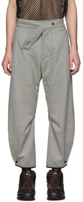 KIKO KOSTADINOV Black and White Check Lentz Trousers
