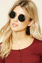 Forever 21 FOREVER 21+ Star Cutout Round Sunglasses