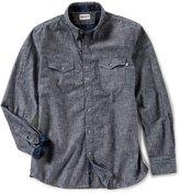Timberland Mumford River Camo Chambray Long-Sleeve Woven Shirt