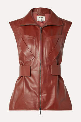 Acne Studios Lorique Leather Vest - Brown