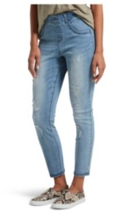 Hue Women's Distressed Ultra Soft Denim Leggings
