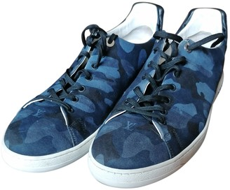 Louis Vuitton Frontrow Blue Cloth Trainers