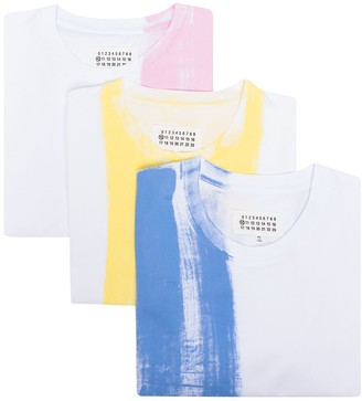 Maison Margiela 3-pack paint print T-shirt set