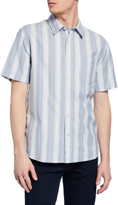 Vince Men's Variegated Stripe Woven Sport Shirt