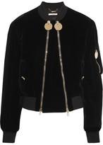 Givenchy Velvet Bomber Jacket - Black